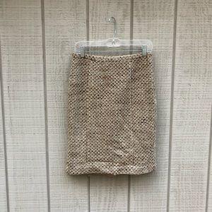 LOFT brown & cream fall tweed pencil skirt, 4